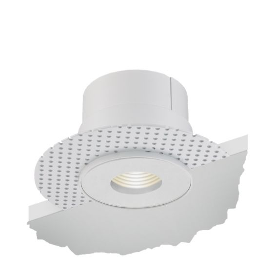 Alcon Lighting 14013-P Illusione 4 Inch Architectural LED Round Trimless Recessed Pinhole Light Fixture