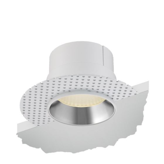 Alcon Lighting 14013-R Illusione 4 Inch Architectural LED Round Flanged Recessed Reflector Cone Light Fixture