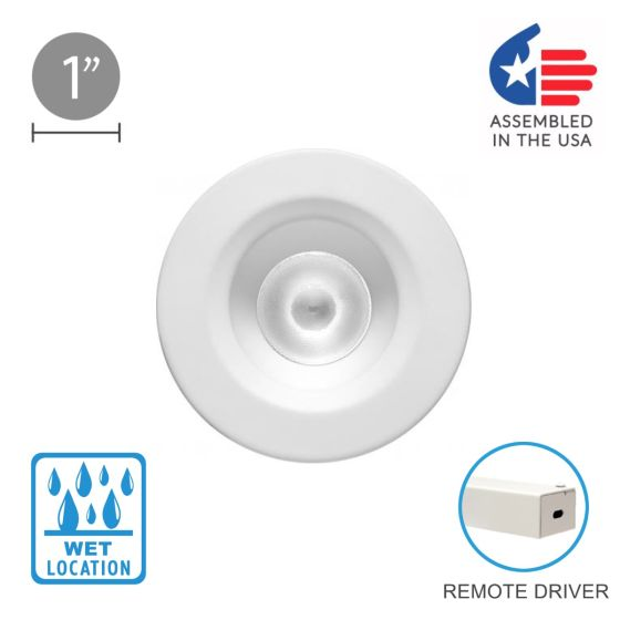 Alcon 14142 Recessed 1-Inch Fixed-Round LED Outdoor Downlight