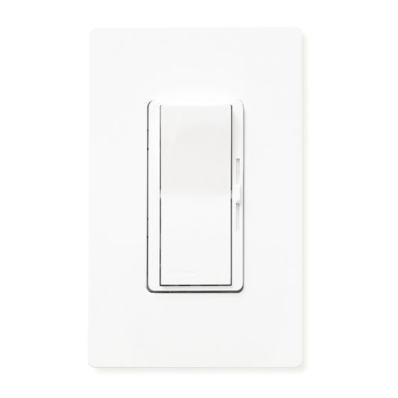 Lutron Diva DVFTU-5A3P-WH 0-10V Tu-Wire Dimmer Switch Single-Pole/3-Way 120V White (5A Max)