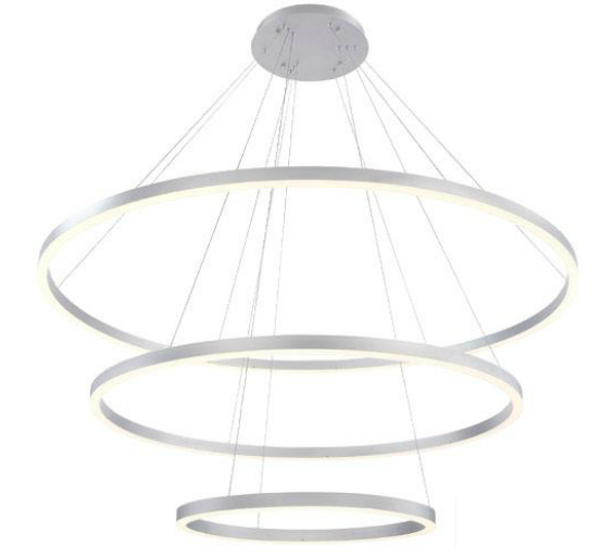 Alcon Lighting 12234 Cirkel Three-Tier 60.75 Inches LED Architectural Suspended Pendant