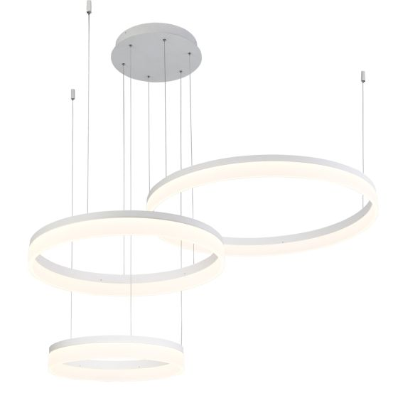 Alcon Lighting 12246 Bandini Three-Tier 47.75 Inches Architectural LED Suspended Pendant Chandelier