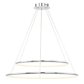 Alcon Lighting 12239 Skinny Cirkel Two-Tier Large Architectural LED Suspended Pendant Chandelier