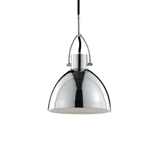 Kuzco Crowe Chrome Modern Industrial High Bay Pendant