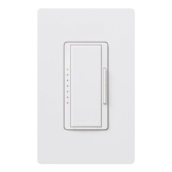 Lutron Maestro MRF2-6ELV-120-WH 120 Volt LED / Halogen / Incandescent / Magnetic Low-voltage Dimmer