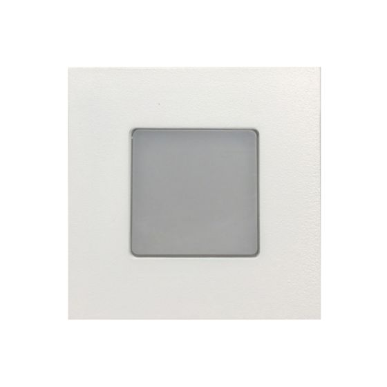 Alcon Lighting 9053 Ara LED Architectural Square Translucent Open Lens Recessed Pathway/Step Light.