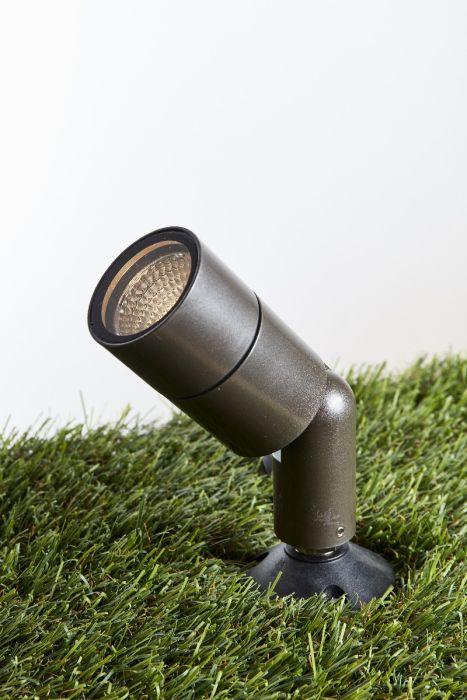 Alcon Lighting 9165 Directional Adjustable LED Architectural-Grade Outdoor Landscape Spotlight, Tree Uplighting, 120V, 360º rotate, 180º tilt