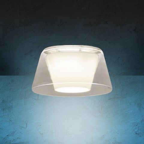 Alcon Lighting 14022 Bunbury Series Semi-Recessed 10 Inch LED Handblown Opal Glass Downlight