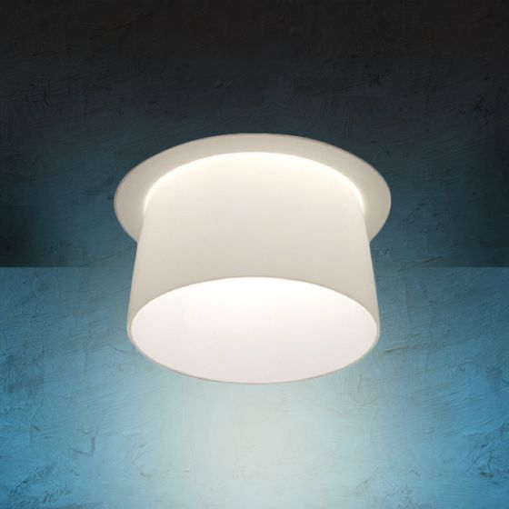 Alcon Lighting 14023 Bunbury Series Semi-Recessed 6 Inch LED Handblown Opal Glass Downlight
