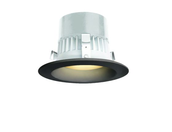 Alcon Lighting 14079 Round 4 Inch LED Recessed Direct Down Light Fixture | 3000K, Black Finish