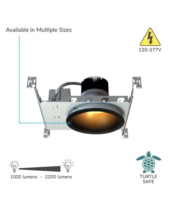 Alcon Lighting 11242 Turtle Friendly Architectural Amber LED Commercial Downlight Fixture