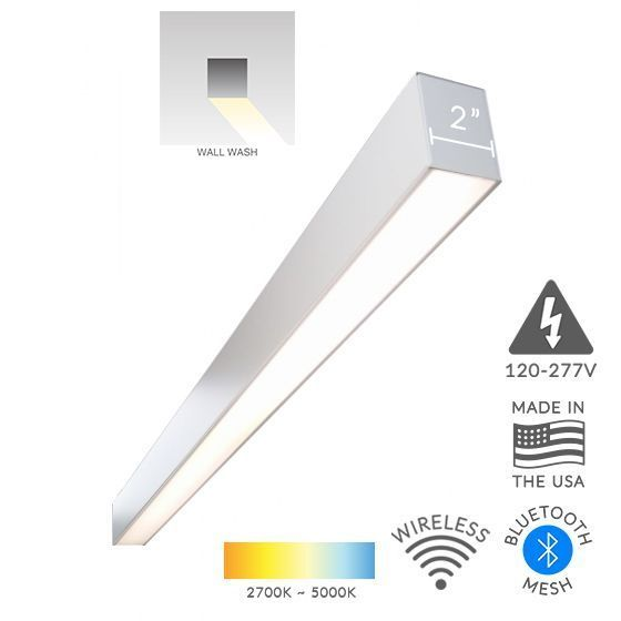Alcon Lighting 12100-20-S-WW Continuum 20 Series Architectural LED Linear Wall Wash Surface Mount Direct Light Fixture
