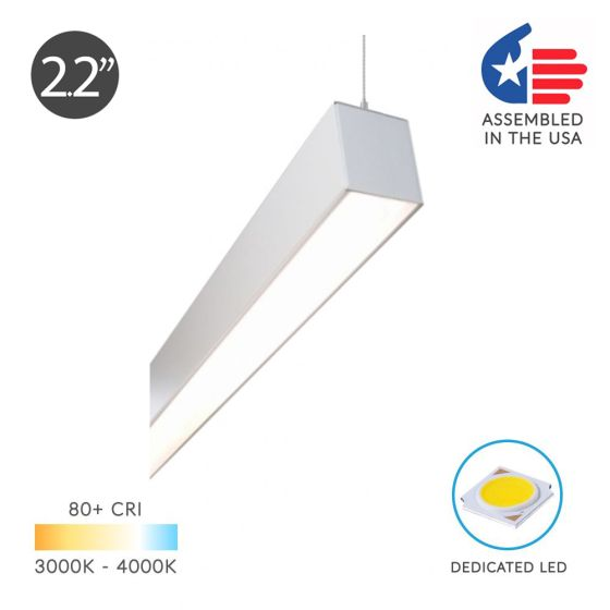 Alcon 12100-22-P Linear Continuous LED Pendant Light