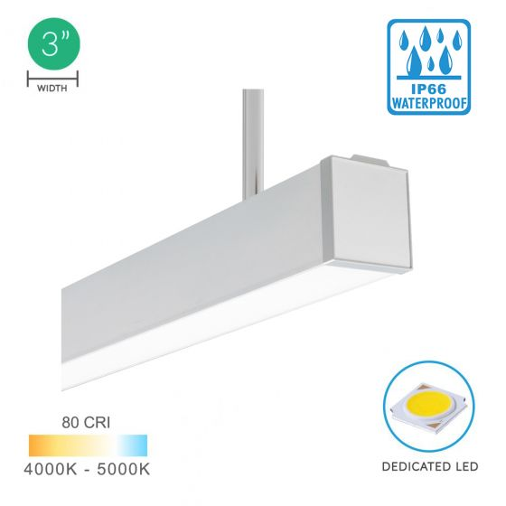 Alcon Lighting 12100-35-P Architectural LED Outdoor Linear Direct Pendant
