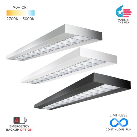 Alcon Lighting 12113 NLP Commercial LED Linear Suspended Pendant Mount Direct/Indirect Architectural Light Fixture