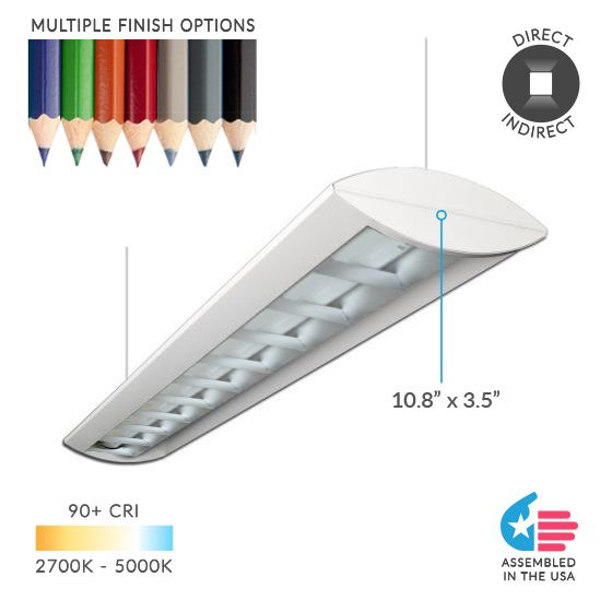 Alcon Lighting Reyon Series 12124 Architectural Low Profile LED Suspended Light Fixture