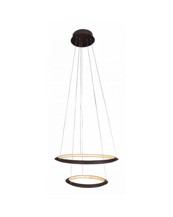 Alcon Lighting 12279-2 Redondo Suspended Architectural LED 2 Tier Ring Light Direct Indirect