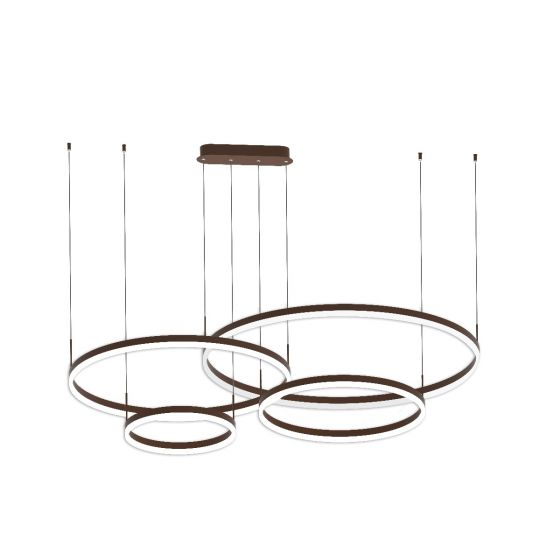Alcon Lighting 12279-4 Redondo Suspended Architectural LED 4 Tier Ring Direct Indirect Chandelier Light