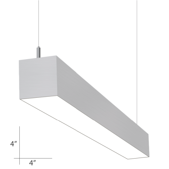 Alcon Lighting Beam 44 Series 10107-4 Architectural 4 Foot Suspended Linear Fluorescent Ceiling Light Fixture