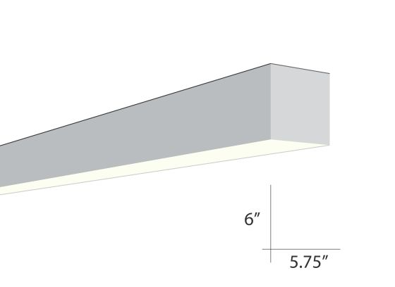 Alcon Lighting Beam 66 Series 6019-8 Architectural 8 Foot Surface Linear Fluorescent Ceiling Light Fixture