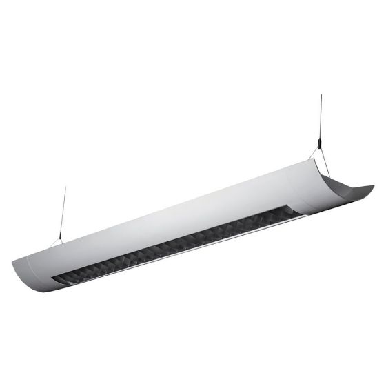 Alcon Lighting Casablanca 10105-8 8 Foot T8 and T5 2-Lamp Fluorescent Architectural Linear Suspended Light Fixture – Uplight (Direct) and Downlight (Indirect)