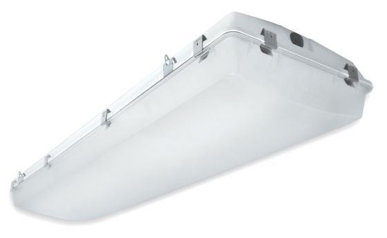 Alcon Lighting 15220-2 VPT II Commercial LED 2 Foot High Impact Vapor Tight Gasket Surface Mount Direct Down Light Fixture