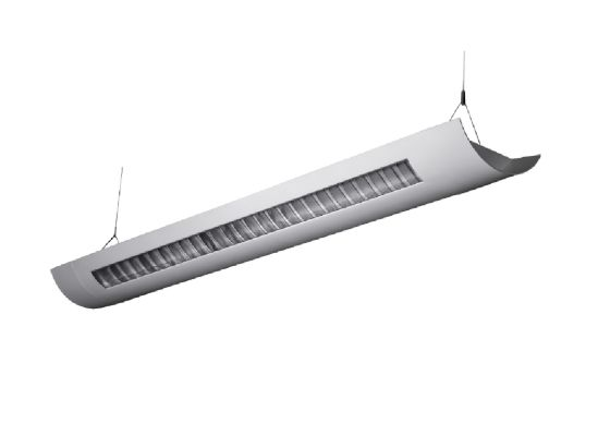 Alcon Lighting Delano 10104-8 T8 or T5HO 8 Foot Fluorescent Architectural Linear Suspended Light Fixture – Uplight (Indirect) and Downlight (Direct)