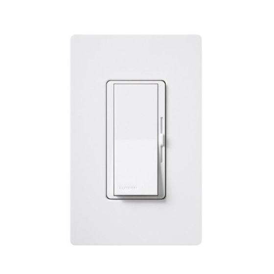 Lutron Diva DVTV-WH 0-10V Dimmer Switch Single-Pole 120V White (30mA Max)