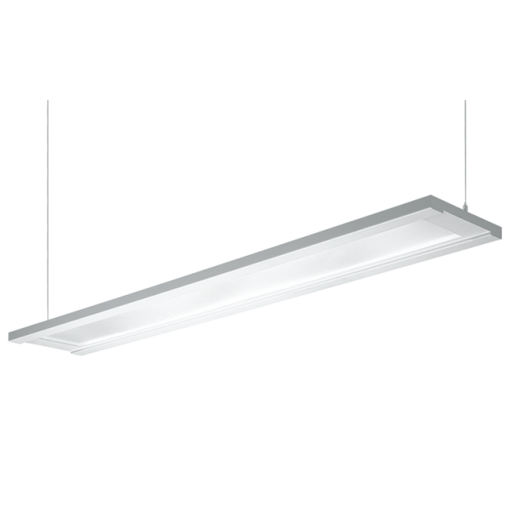 H.E. Williams FP4-8 Step-Up Luminous Flat Panel Fluorescent Suspended Light Fixture - 8 FT