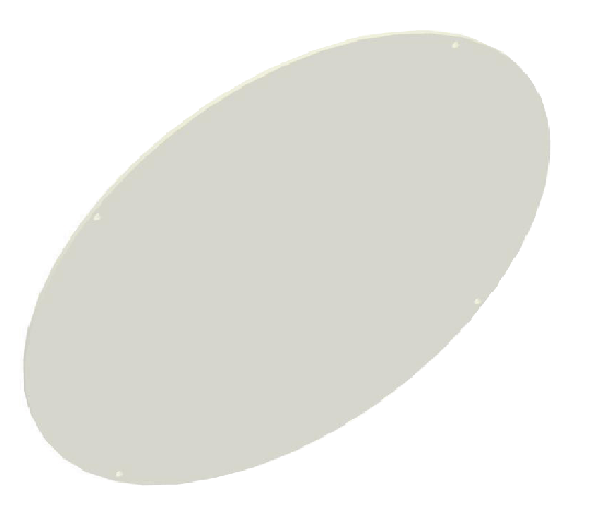 RAB GDBAYLED78FP Polyshield Guard Frosted for BAYLED / AISLED Luminaires