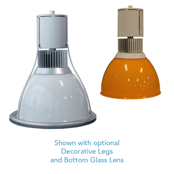 Alcon Lighting 15200-2 HBY Series Architectural LED High Bay Pendant Mount 0-10V Dimming Direct Down Light Fixture