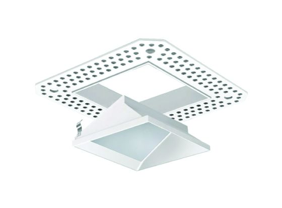 Alcon Lighting 14006-3 Illusione 3 Inch Architectural LED Square Trimless Lensed Recessed Wall Wash Fixture