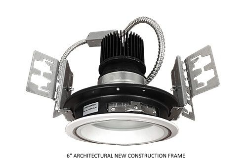 Alcon Lighting 14132-6 Mirage Architectural and Commercial LED New Construction Frame Recessed Down Light - 6""