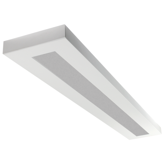 LSI Industries HRZ-8-FL LiniArc Horizon Housing Frosted Acrylic Lens Fluorescent Suspended Light Fixture - Direct/Indirect - 8 FT