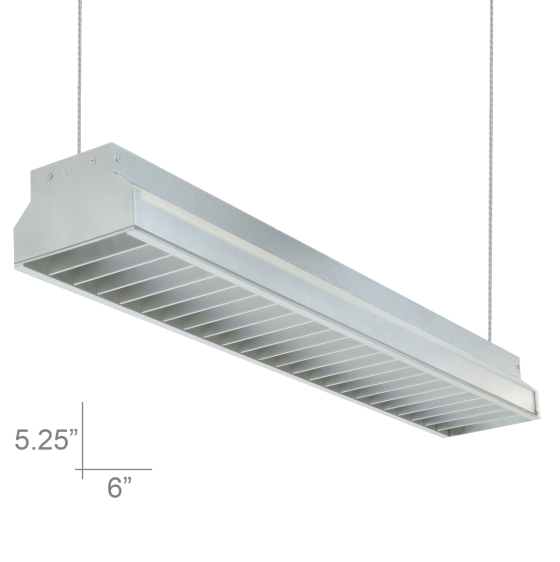 Alcon Lighting 12102-4 Argyle Series Architectural LED 4 Foot Suspended Pendant Mount Commercial Direct Light Strip