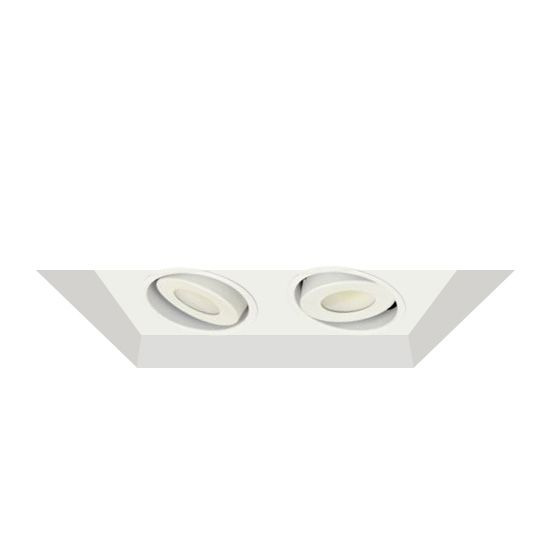 Alcon Lighting 14300-2 Oculare Architectural LED Flanged Adjustable 2 Heads Multiple Recessed Lighting System Direct Down Fixture
