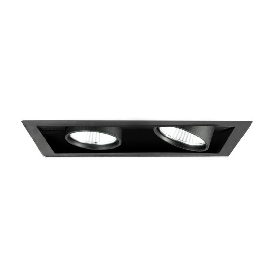 Alcon Lighting 14113-2 Oculare Pull-Down Architectural LED Trimless and Flanged Adjustable 2 Heads Multiple Recessed Lighting System Direct Down Fixture