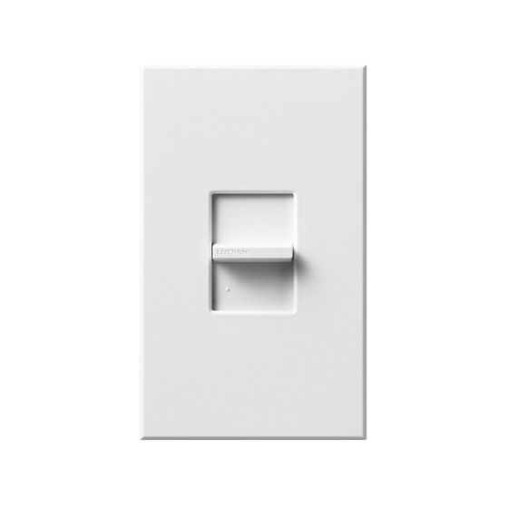 Lutron Nova T NTSTV-DV-WH 0-10V Slide-to-Off Dimmer Switch Single-Pole 120-277V White (8A Max)
