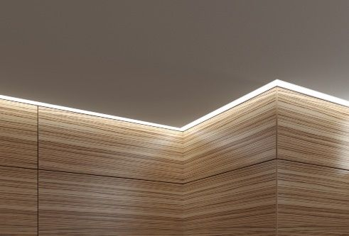 Alcon Lighting 12100-30-R Continuum 30 Series Architectural LED Linear Recessed Perimeter Ceiling-to-Wall Edge Corner Lighting
