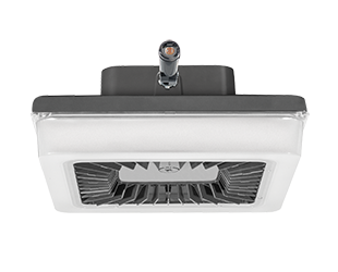RAB PORTO PRT LED Garage Canopy Light with Multi Level Motion Sensor