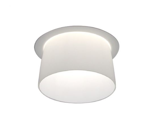 Alcon Lighting Pulsar 14023 Semi-Recessed 6 Inch LED Handblown Opal Glass Downlight