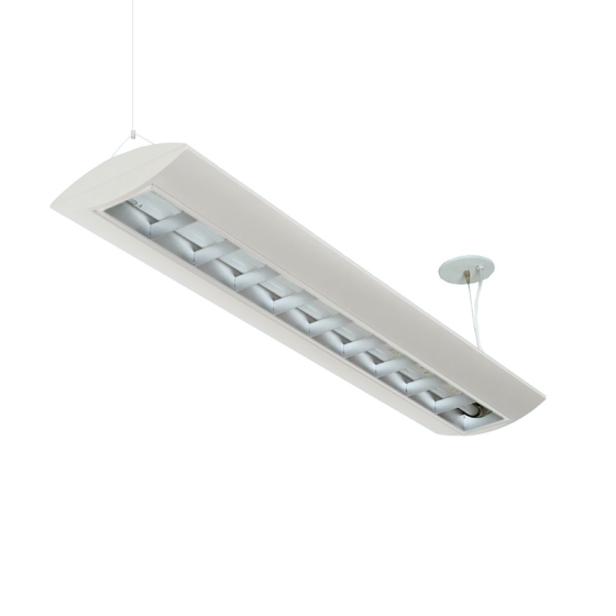 Alcon Reyon 10124-4 Low Profile 4 FT Fluorescent Commercial Pendant