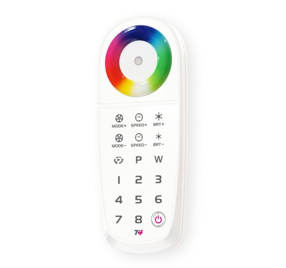 RF Color Changing RGBW Remote Control Multi Zone