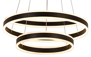 Alcon Lighting 12270-2 Redondo Suspended Architectural LED 2 Tier Ring Light Direct Indirect