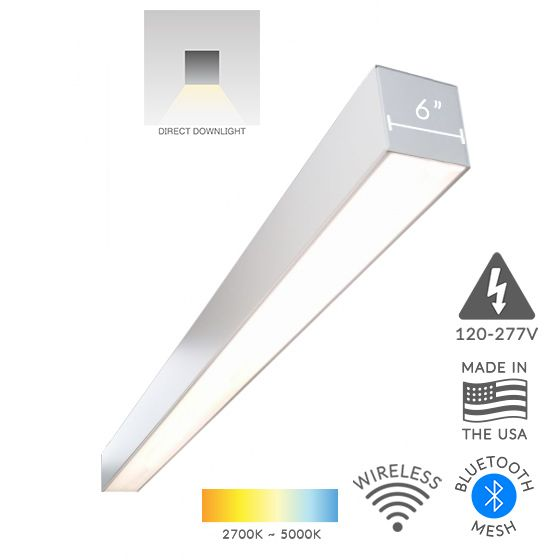 Alcon Lighting 12100-66-S Continuum 66 Series Architectural LED Linear Surface Mount Direct Down Light Fixture