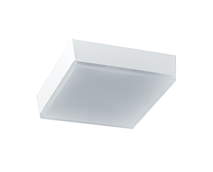 RAB LED 5 Inch SKEET SK9S Square 9 Watt Low Profile LED Flush Mount Retrofit Light Fixture