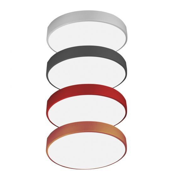 Alcon Lighting 12201-S-3 Skyline Architectural LED Round Surface Mount Direct Light Fixture - 3'