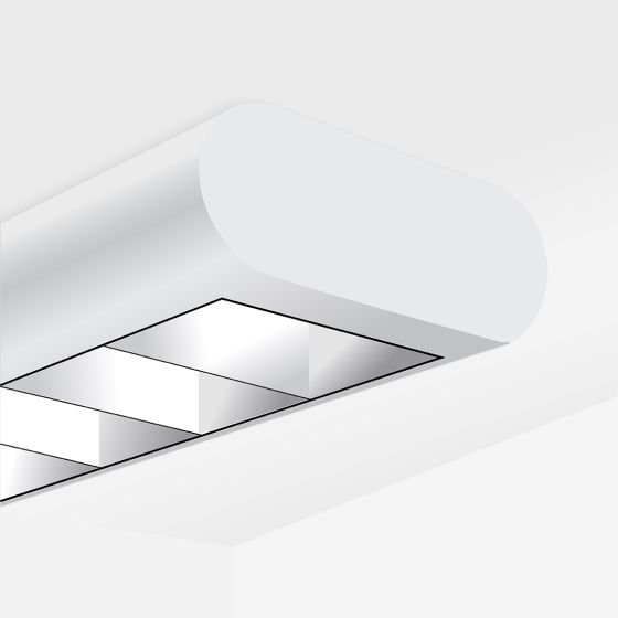 Alcon 12146-S Linear Surface-Mount Capsule LED Downlight