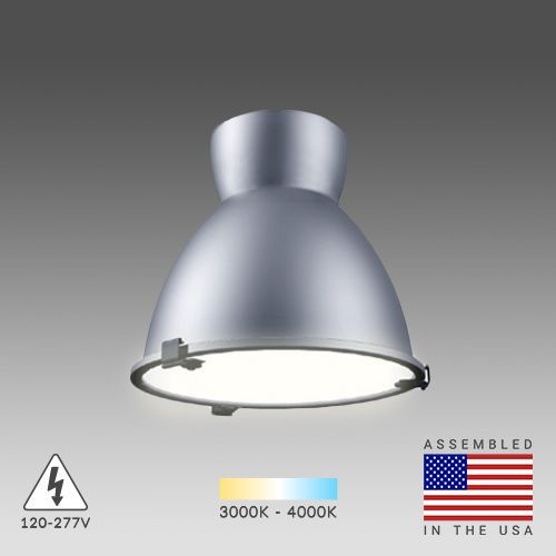 Alcon Lighting 15203 Hobart Architectural LED High and Low Bay Round Pendant Mount Direct Down Light Fixture