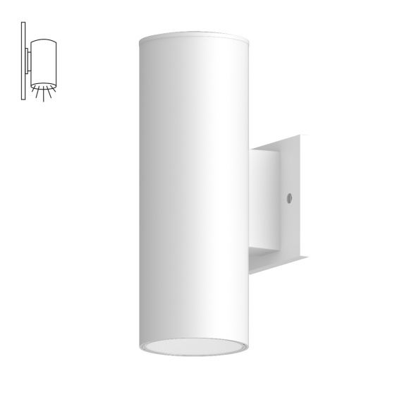 Alcon Lighting 11238-W Cilindro III Architectural LED Large Modern Cylinder Wall Mount Direct Light Fixture